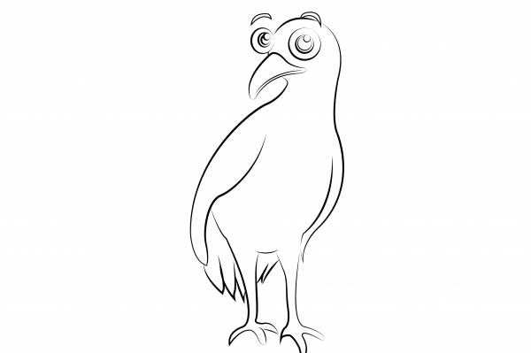 Buff Weka Colouring Page