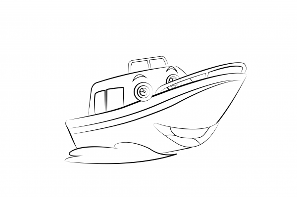 Water Taxi Colouring Page